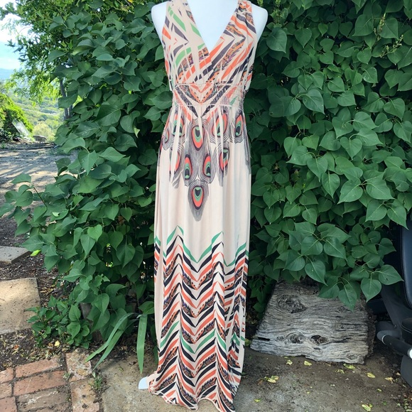 Fresh of LA Dresses & Skirts - Tribal Peacock Hippie Boho  Maxi Dress